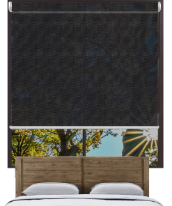 Cornerstone Black Sunscreen Roller Blind