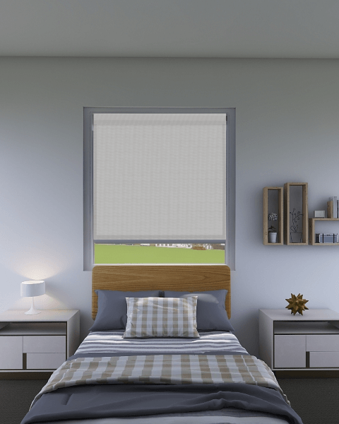 Cornerstone Silver Sunscreen Roller Blind