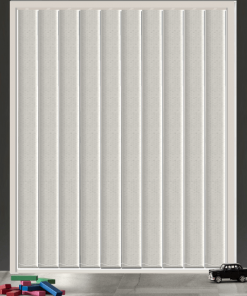 Winter White Blockout Vertical Blind