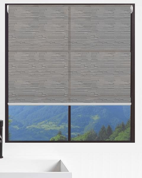Graphite Light Filtering Roller Blind