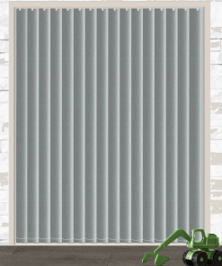 Mid Grey Blockout Vertical Blind