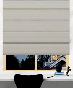Chalk Blockout Plantation Roman Blind