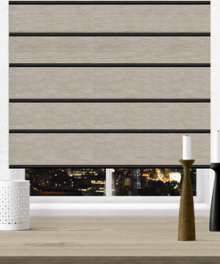 Sand Blockout Plantation Roman Blind