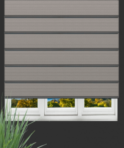 Graphite Blockout Plantation Roman Blind
