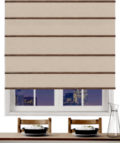 Shell Blockout Plantation Roman Blind