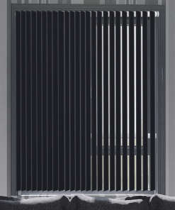 Coal Blockout Vertical Blind