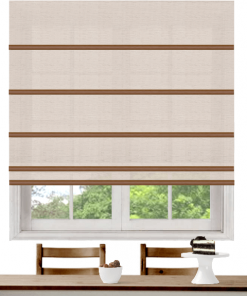 Crystal Light Filtering Plantation Roman Blind
