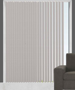 Gloss Coal Blockout Vertical Blind