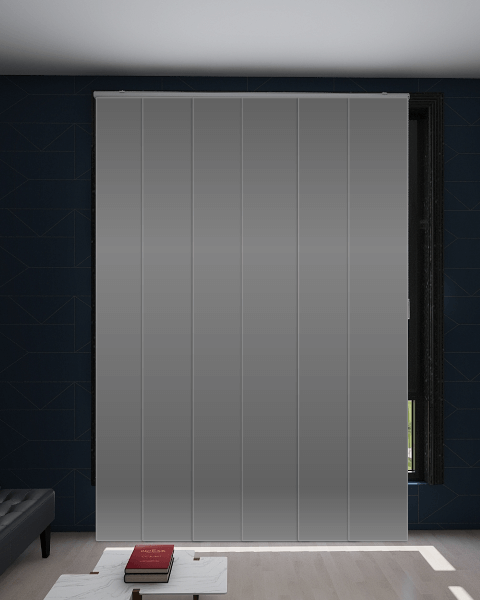 Lava Metallic Blockout Panel Blind