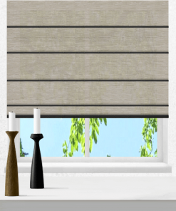 Sand Light Filtering Plantation Roman Blind