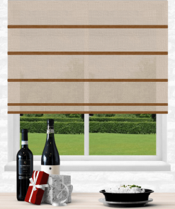 Shell Light Filtering Plantation Roman Blind