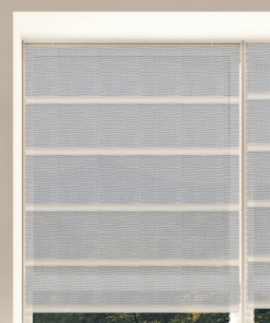 Silver Sunscreen Plantation Roman Blind