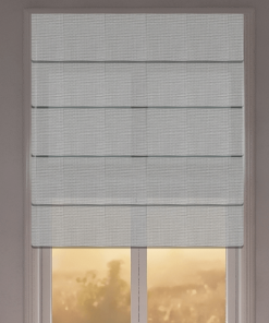 Silver Sunscreen Roman Blind