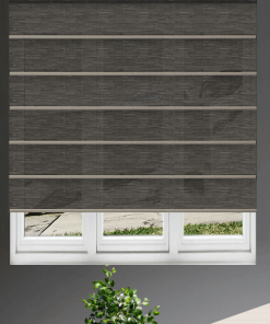 Mink Light Filtering Plantation Roman Blind